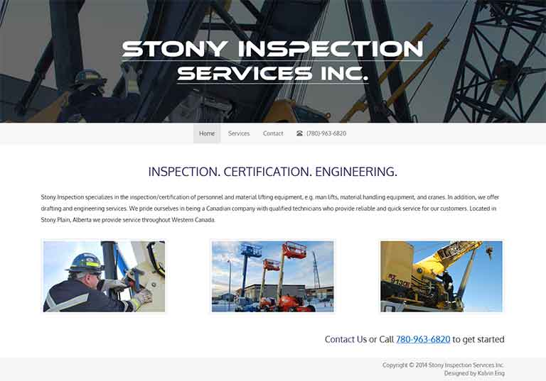 Stony Inspection Services Inc. Website